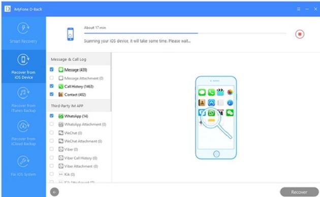 khôi phục dữ liệu với ứng dụng iMyFone D-Back