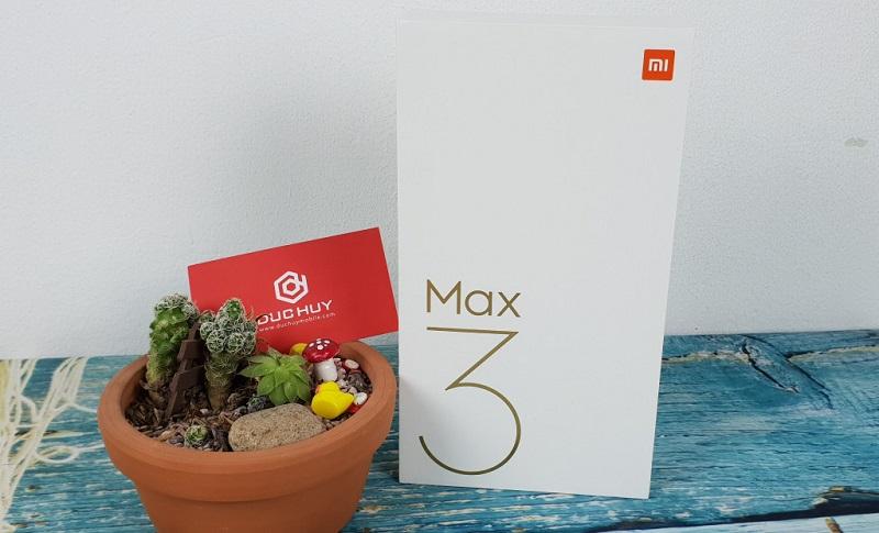 xiaomi mi max 3 mở hộp ngoài