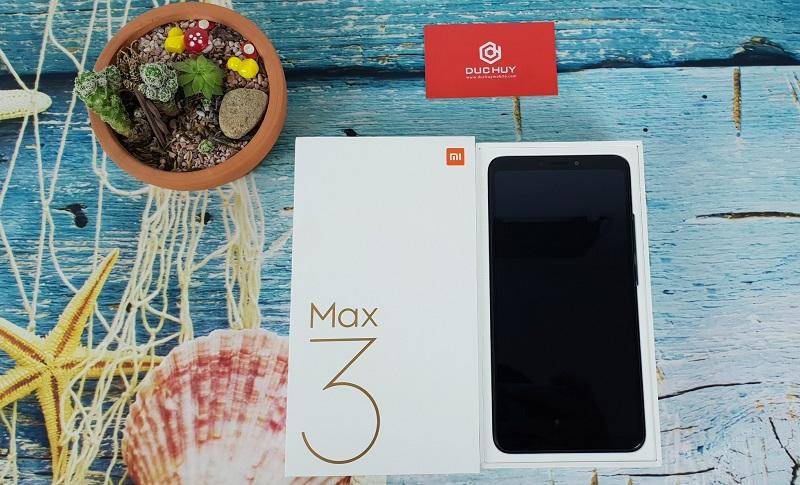 xiaomi mi max 3 mở hộp