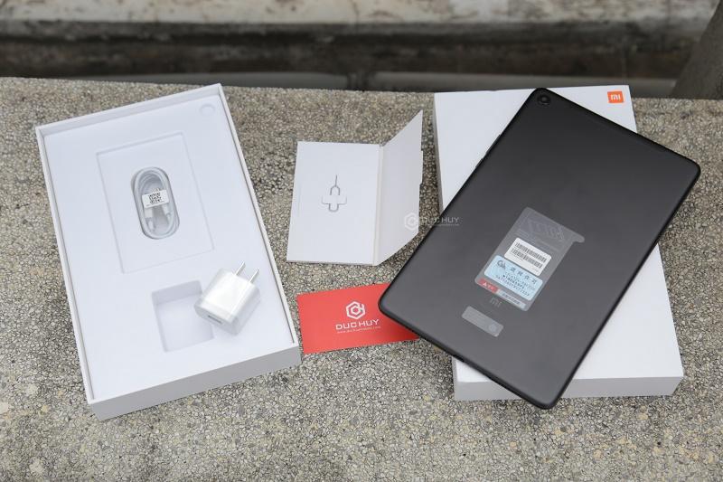 xiaomi mi pad 4 plus mở hộp, máy và phụ kiện