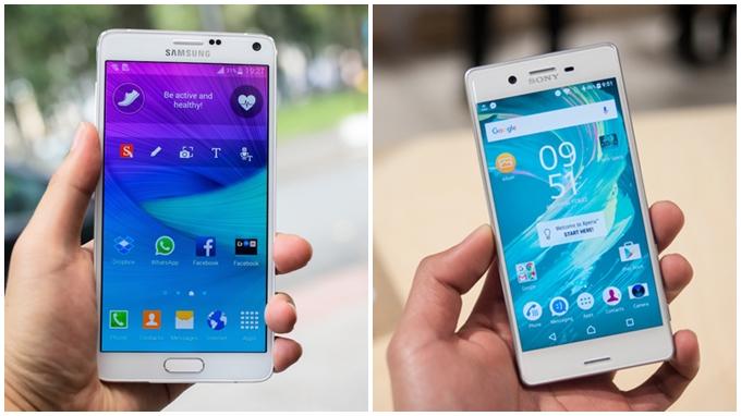 Galaxy Note 4 cũ và Xperia X 1