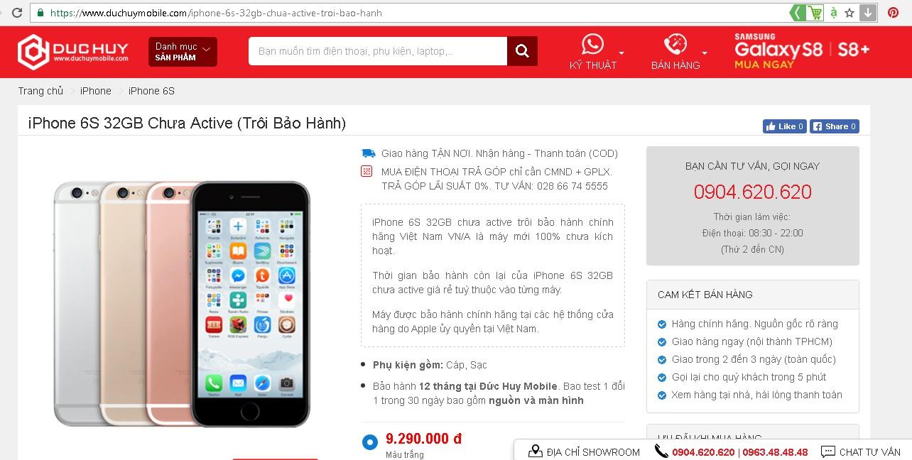 gia-ban-iphone-6s-32gb-chua-active-troi-bao-hanh-duchuymobile