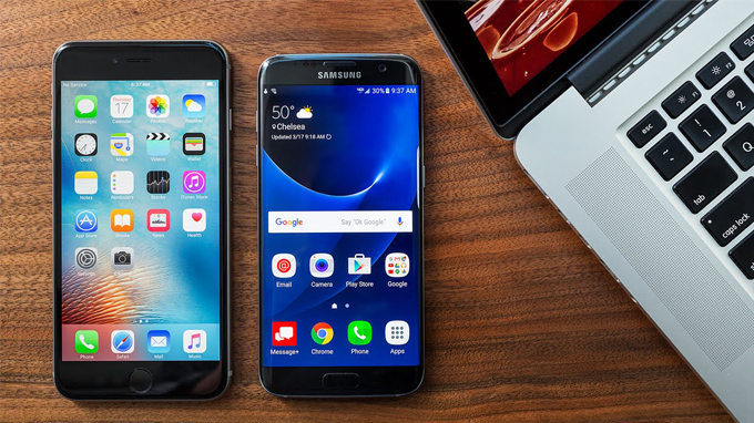 iPhone 6 Plus và samsung s7 edge