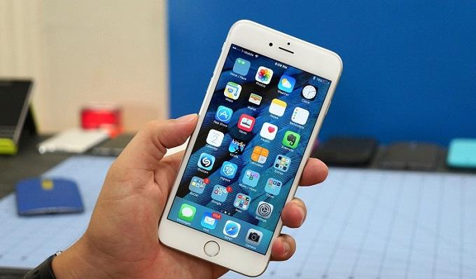 thiết kế mặt trước iPhone 6S Plus chưa active trôi bảo hành