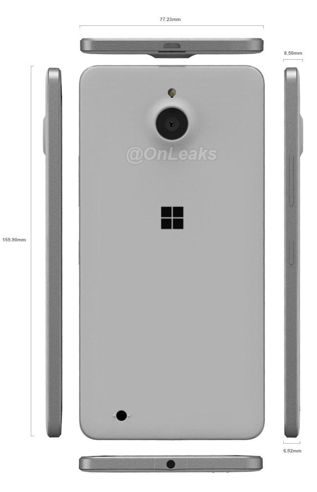 Thiết kế Microsoft Lumia 850
