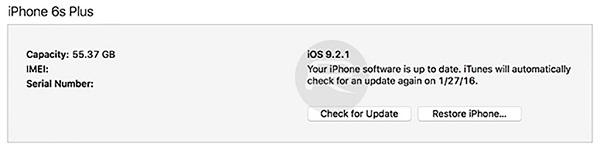 hạ cấp từ iOS.9.2.1 xuống iOS 9.2 4
