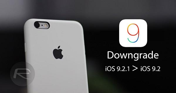 hạ cấp từ iOS.9.2.1 xuống iOS 9.2