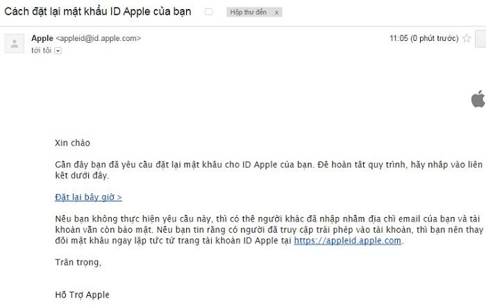 Mẹo lấy lại mật khẩu ID Apple: Bước 4