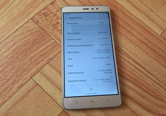khui hộp Xiaomi Redmi Note 3 Pro 9