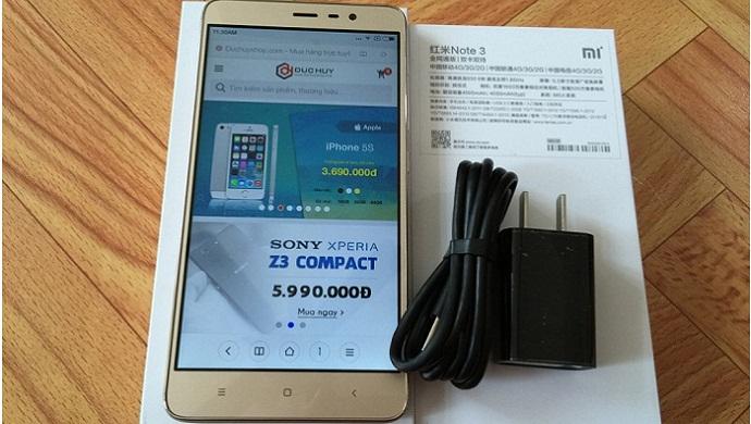khui hộp Xiaomi Redmi Note 3 Pro 1