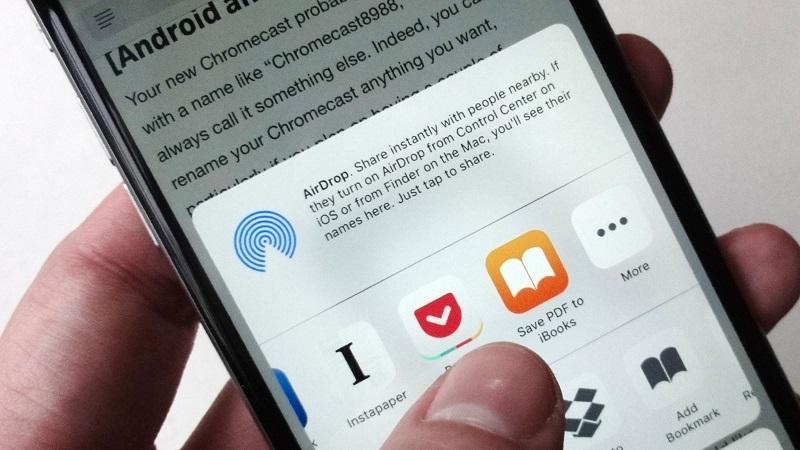 lưu địa chỉ web trên iPhone và điện thoại Android