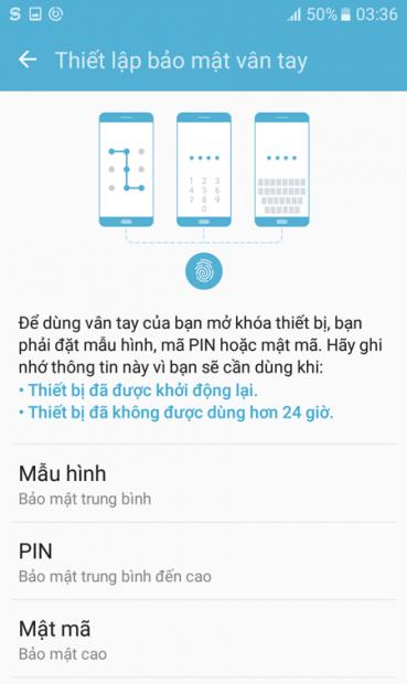 Samsung J5 Prime bảo mật 3