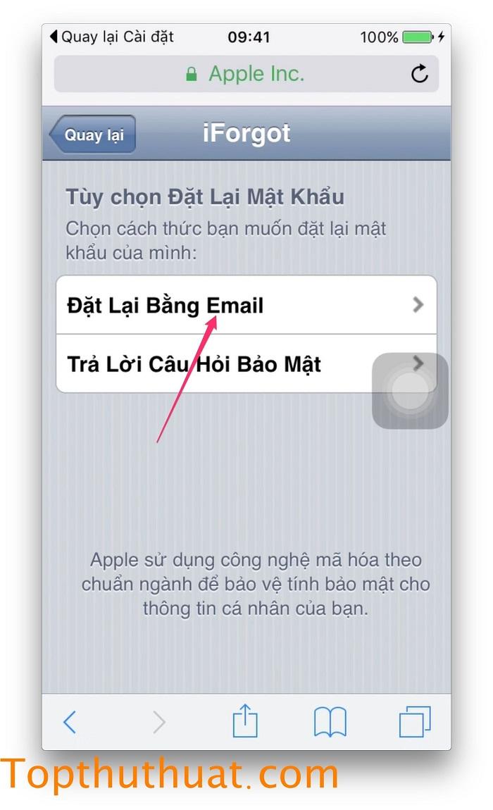lấy lại mật khẩu Apple ID trên iPhone 13