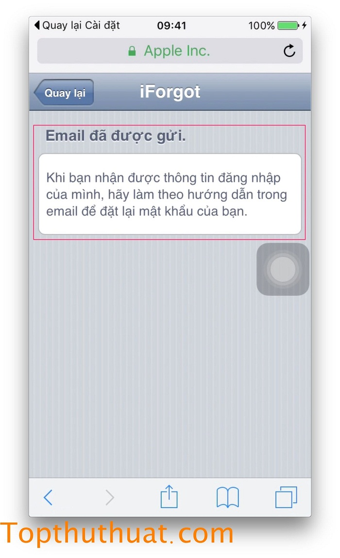 lấy lại mật khẩu Apple ID trên iPhone 14