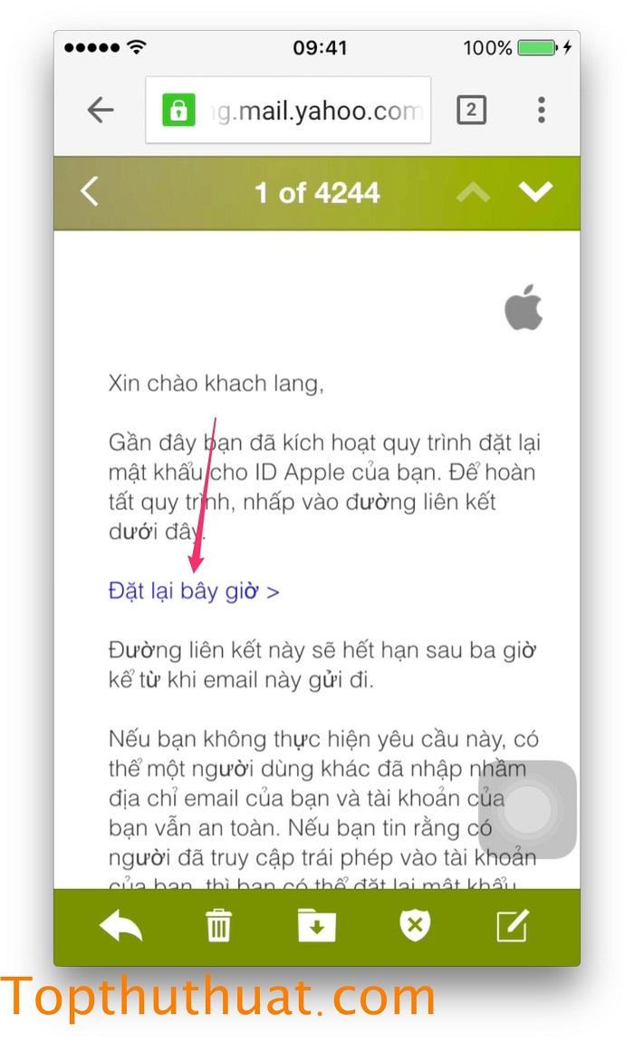 lấy lại mật khẩu Apple ID trên iPhone 16