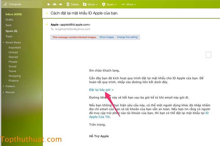 lấy lại mật khẩu Apple ID trên iPhone 5