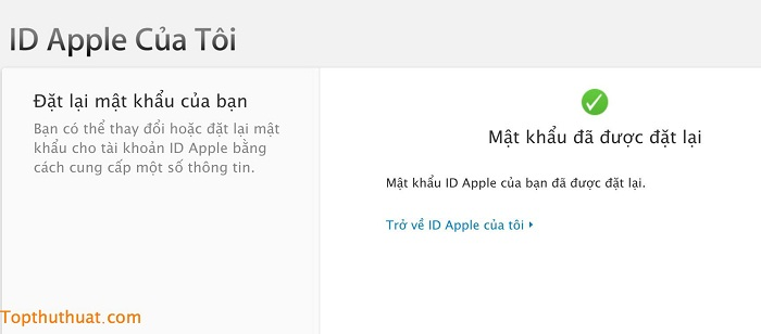 lấy lại mật khẩu Apple ID trên iPhone 7