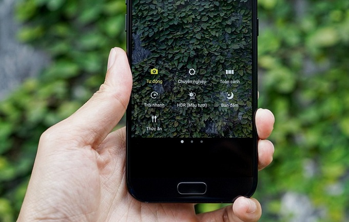 Giao diện chụp ảnh Samsung Galaxy A5 2017