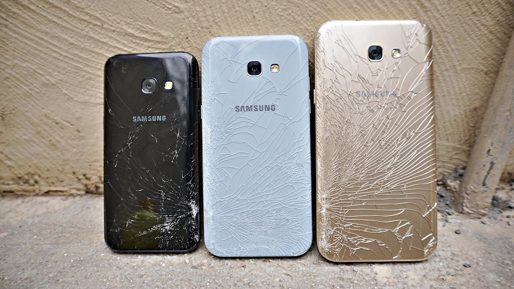 Video thử độ bền bộ ba Samsung Galaxy A 2017