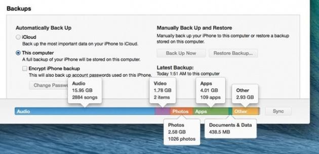 ngốn bộ nhớ iPhone