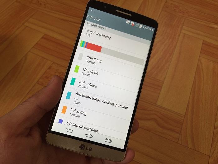 Dung lượng LG G3 Cat 6