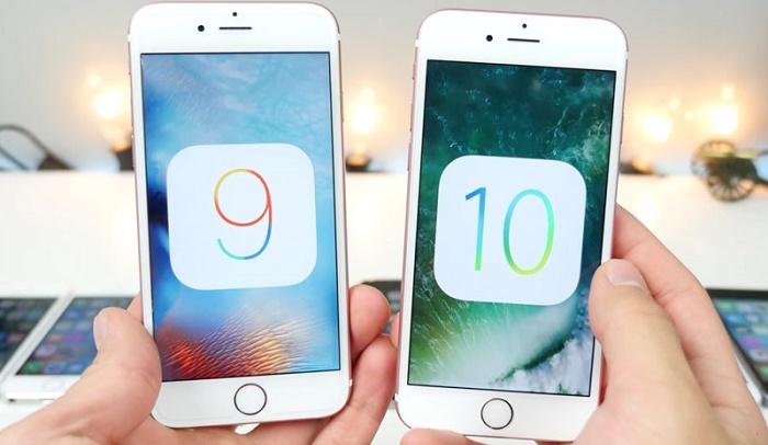 Video so sánh tốc độ iOS 9 và iOS 10 trên iPhone