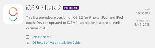 phát hành  OS beta mới