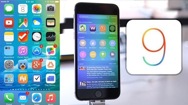 bản cập nhật phần mềm đã tải về trên iOS 9