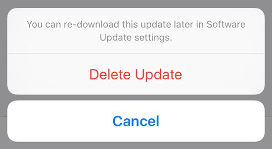 bản cập nhật phần mềm đã tải về trên iOS 9 2