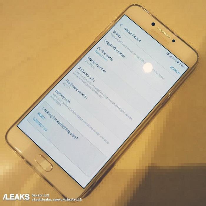 Samsung Galaxy C7 Pro - Dáng kim loại, RAM 4GB - 164476