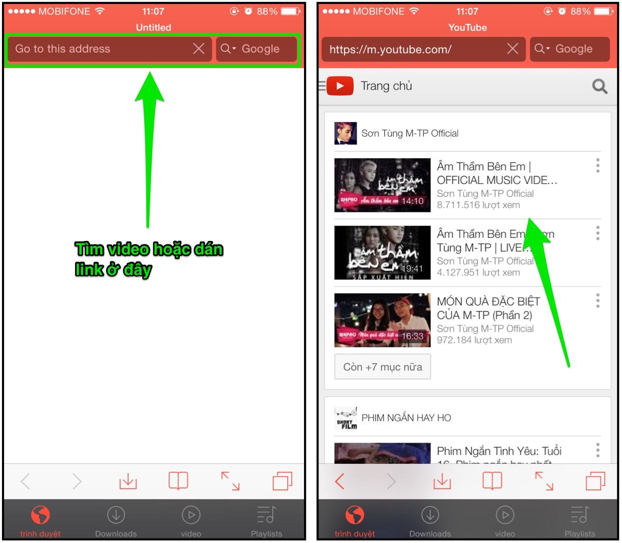 Mẹo tải video trực tiếp từ YouTube trên iPhone: Bước 2