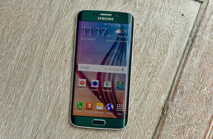 Samsung Galaxy S6 Edge xanh ngọc lục bảo 6