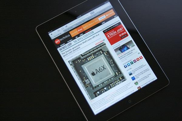 cấu hình iPad 4 qua sử dụng