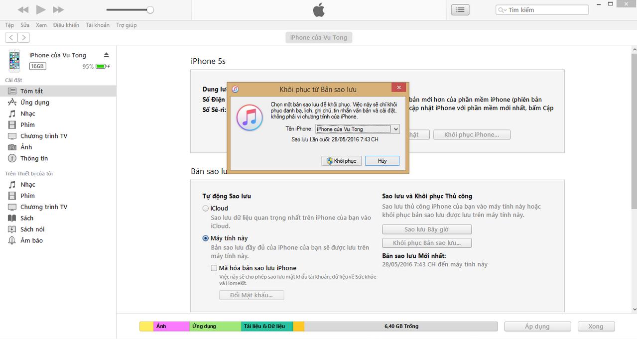 restore iPhone 3