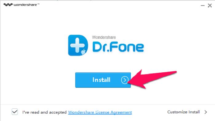 ứng dụng Wondershare Dr.Fone