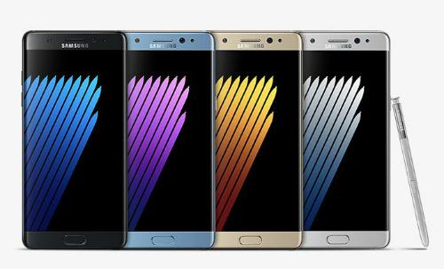 Màu Samsung Galaxy Note 7