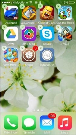 xóa cydia trực tiếp trên iPhone 3