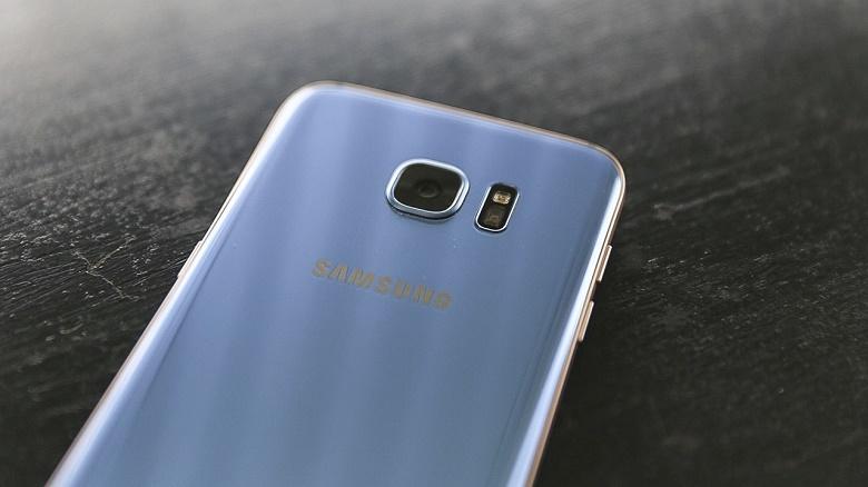 Camera sau Samsung Galaxy S7 Edge xanh san hô