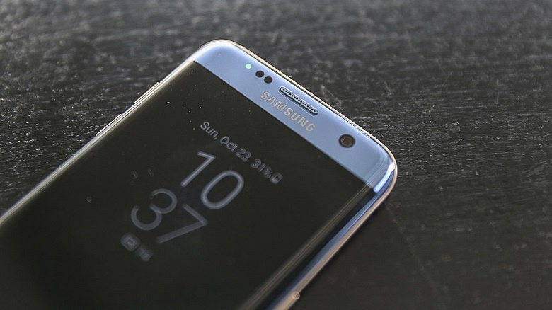 Logo Samsung Samsung Galaxy S7 Edge xanh san hô