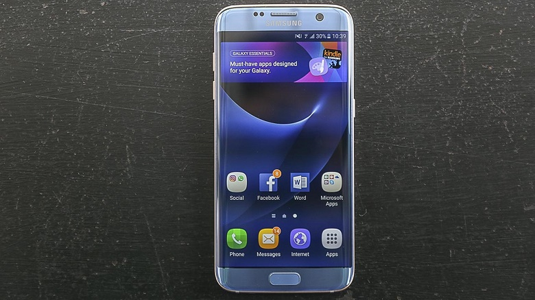 Màn hình Samsung Galaxy S7 Edge xanh san hô