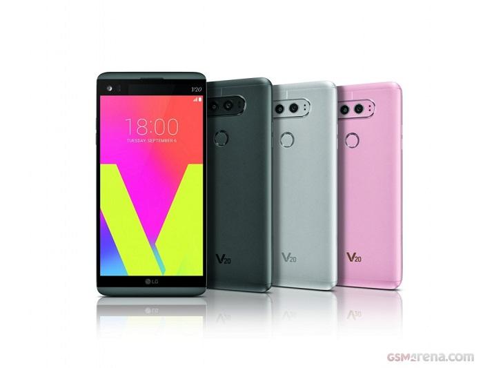 LG V20 ra mắt : Màn hình 2K, RAM 4GB, camera kép
