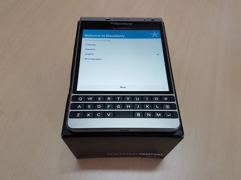 Phiên bản Blackberry Passport Sliver