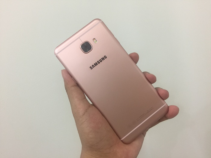 Đập hộp Samsung Galaxy C7 màn hình