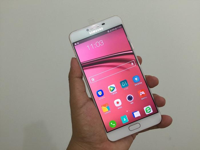 Đập hộp Samsung Galaxy C7 pin