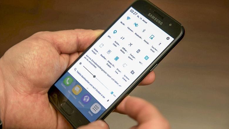 Thông báo Samsung Galaxy A3 2017