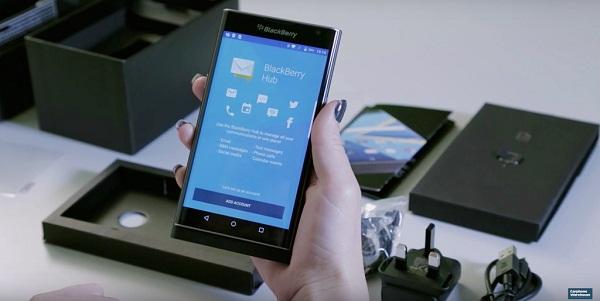 Chưa ra mắt, BlackBerry Priv đã có video mở hộp