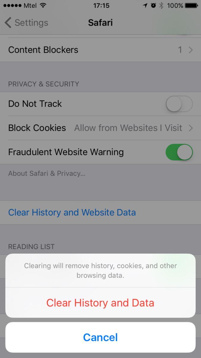 hướng dẫn xóa lịch sử Safari trên iPhone