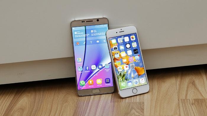 iPhone 6 cũ và Galaxy Note 5 Mỹ