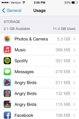 Mẹo tăng tốc trên thiết bị iOS 7 đời cũ: Bước 1