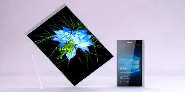 Surface Phone ở chế độ tablet và chế độ smartphone.